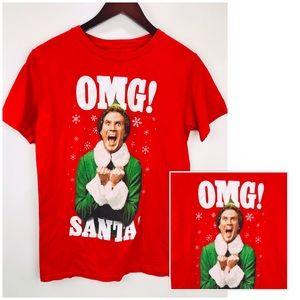 Will Ferrell OMG Santa T-shirt Mens Sz M Red